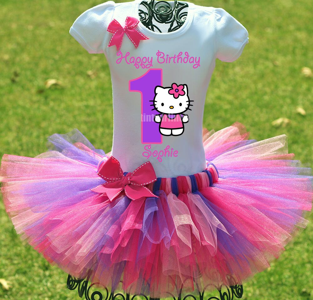 Hello Kitty Birthday Outfit, Hello Kitty Tutu, Birthday Tutu, Hello Kitty Birthday, Dora Birthday Outfit, Princess Sofia Birthday by TwistinTwirlinTutus on Etsy https://www.etsy.com/listing/184596634/hello-kitty-birthday-outfit-hello-kitty