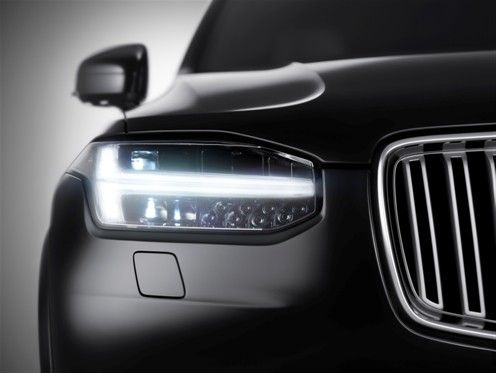 The All New Volvo Xc90 Front View Volvo Cars Of North America Media Newsroom Volvo Xc90 Car Headlights Volvo Cars