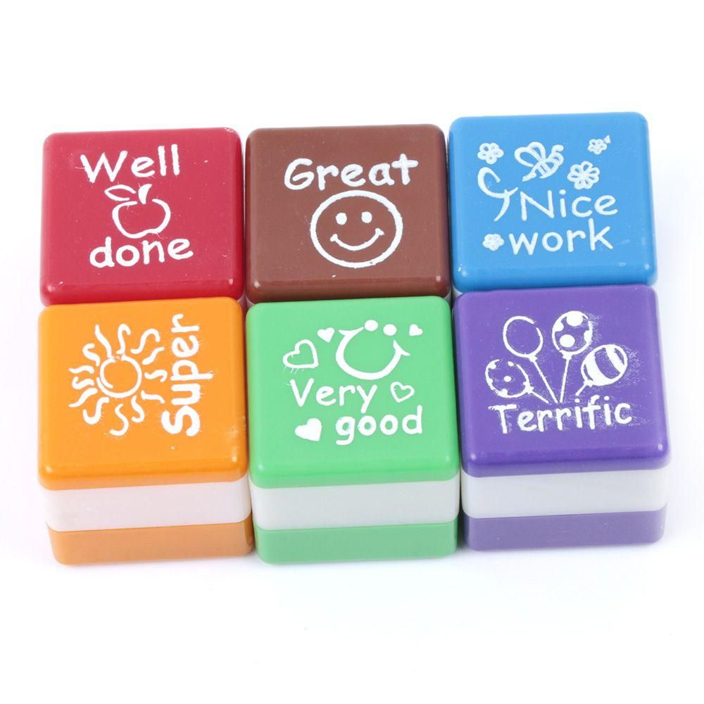 6pcs/set Teacher Seal Self Inking Praise Reward Stamp Inspiration Kid  Students Gift. Yesterday's price: US $1.95 (1.73 EUR). Today's price: US  $1.70 (1.50 ...