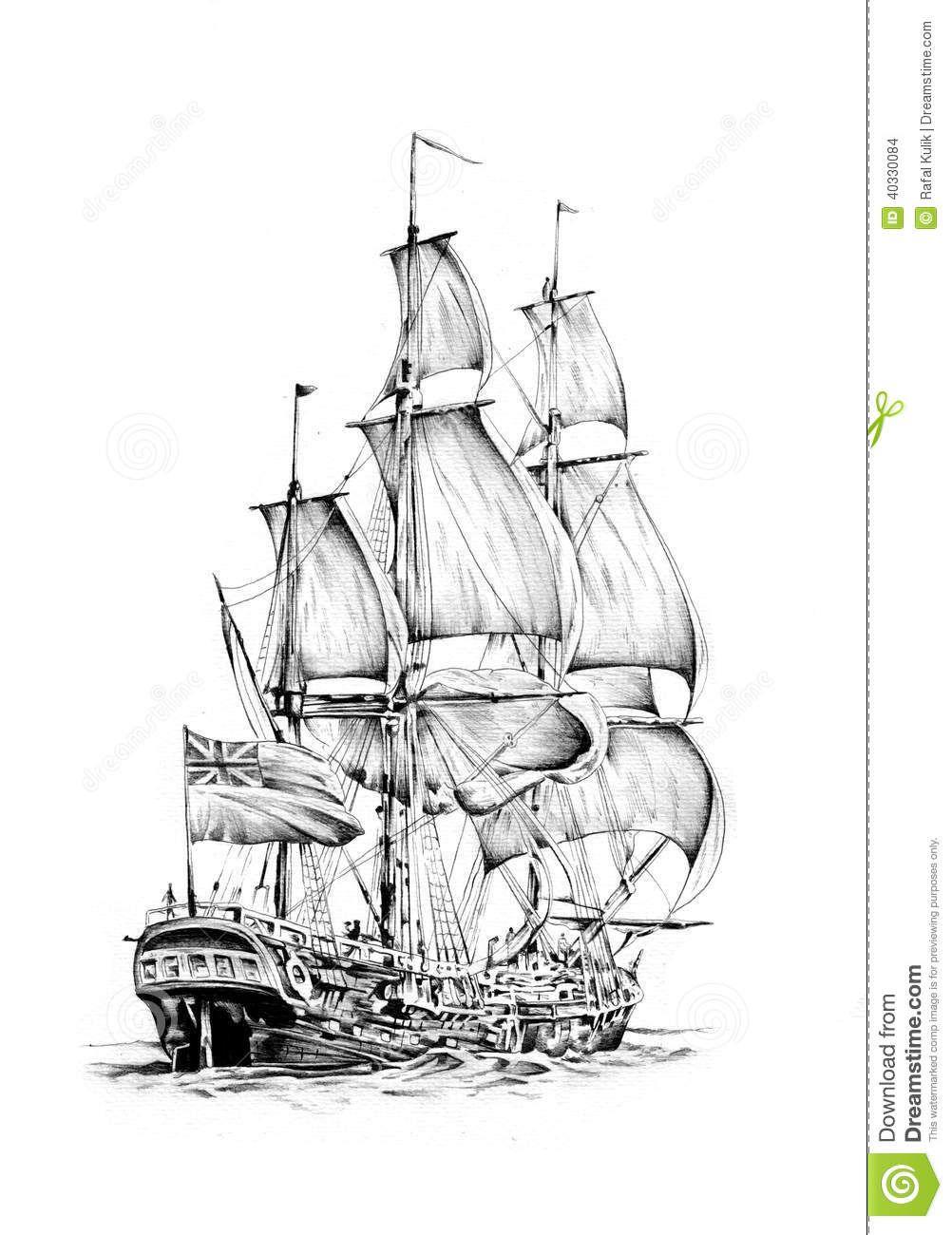 Resultado De Imagen Para Dibujos Hechos A Lapiz Animales Ship Sketch Boat Ocean Art