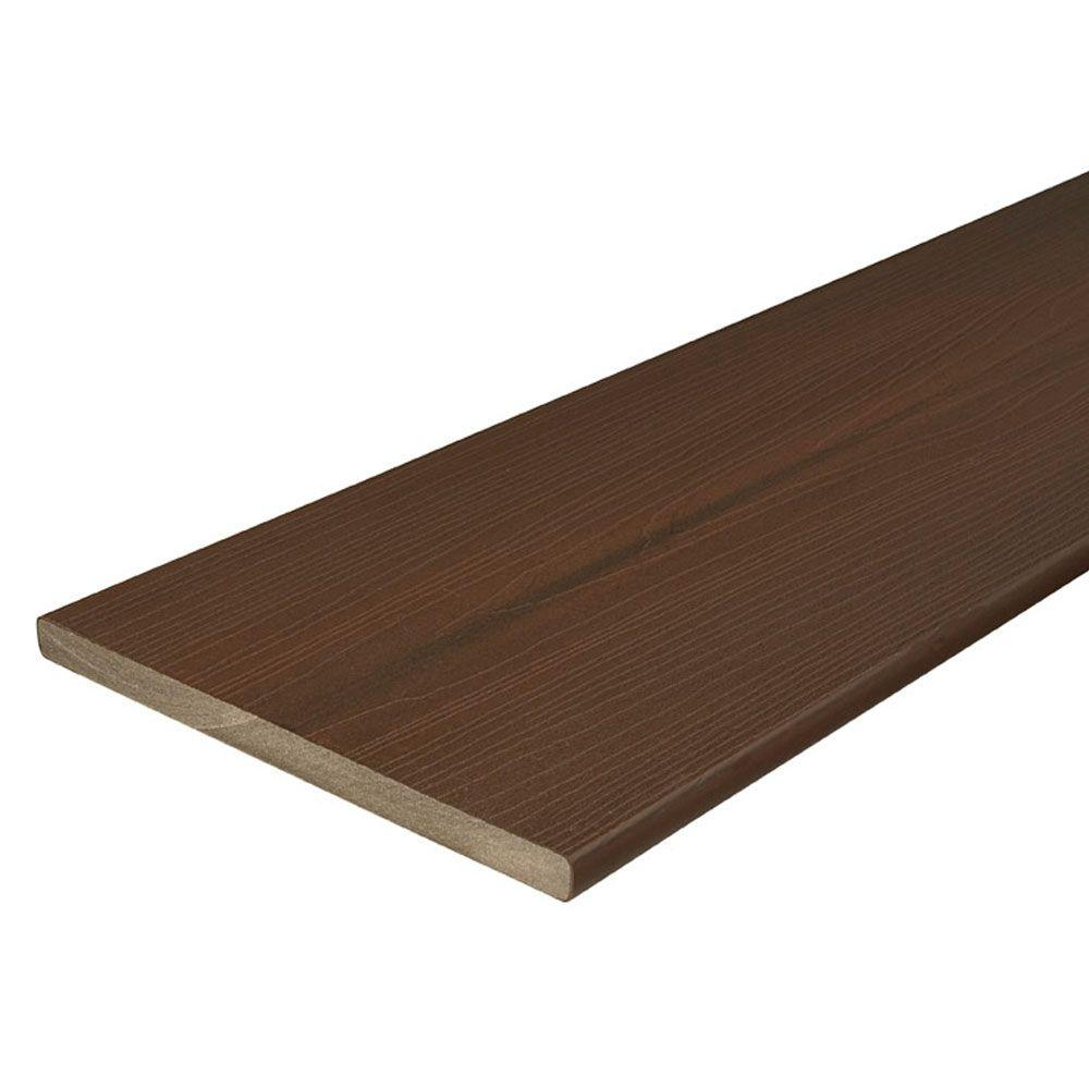 Protect Advantage 3 4 In X 11 1 4 In X 12 Ft Chestnut Capped Fascia Composite Decking Board 24 Pack Fiberon Composite Decking Decking Material Composite