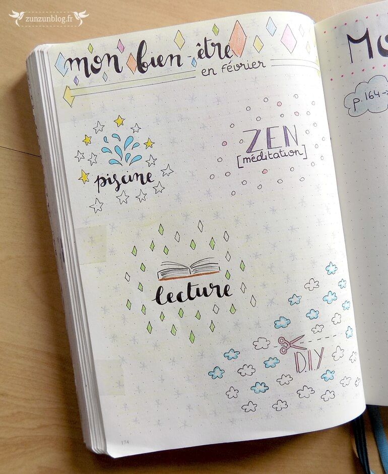 Bullet journal tracker bien etre 2 bullet journal pinterest bullet journal bullet et - Idee tracker bullet journal ...
