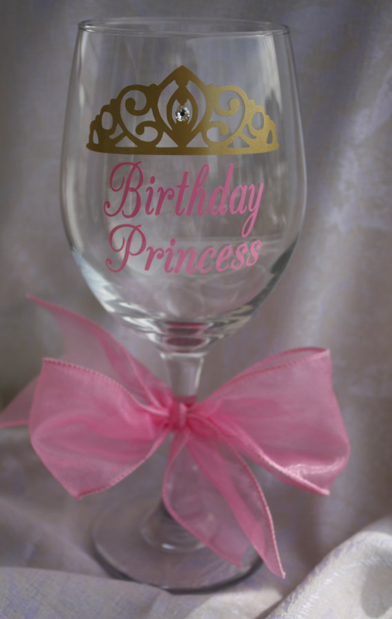 Crystal Heart Glitter Wine Glass Gift Mothers Day