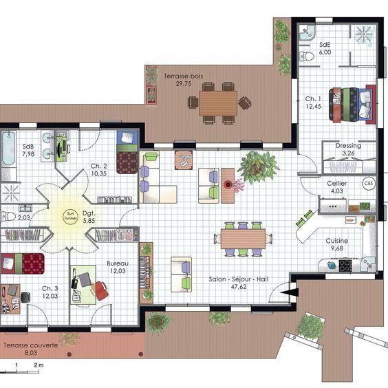 Maison à lu0027architecture bioclimatique Construction