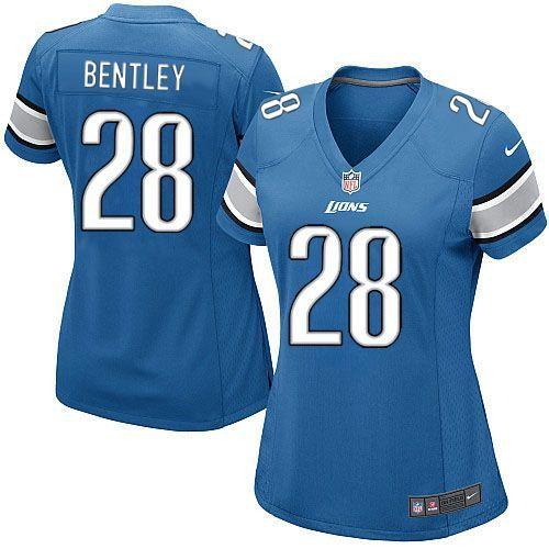 women nike detroit lions 28 bill bentley limited light blue team color nfl jersey sale youth