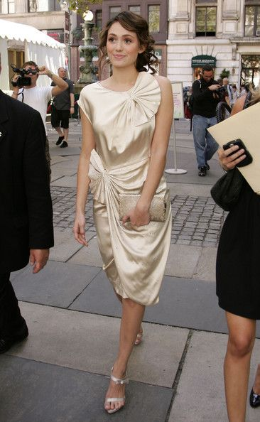 f1939832b1e Emmy Rossum Shirtdress - Emmy Rossum Looks - StyleBistro Evening Sandals