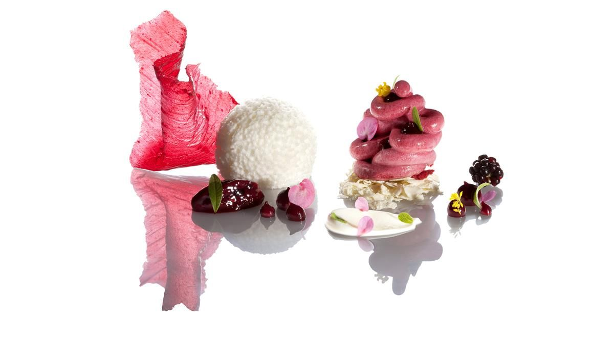 Blackberry and Verbena (recipe with lemon verbena by chef Andreas Caminada  from Switzerland). 9b639f8a00f