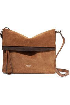 7bb36907d907 Michael Kors Collection - Sedona leather-trimmed suede shoulder bag
