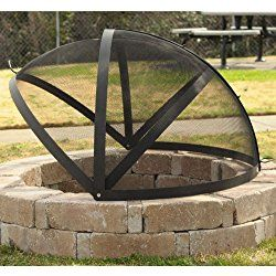 36 Inch Fire Pit Easy Access Spark Screen Backyard Fire Fire Pit Backyard Fire Pit Spark Screen