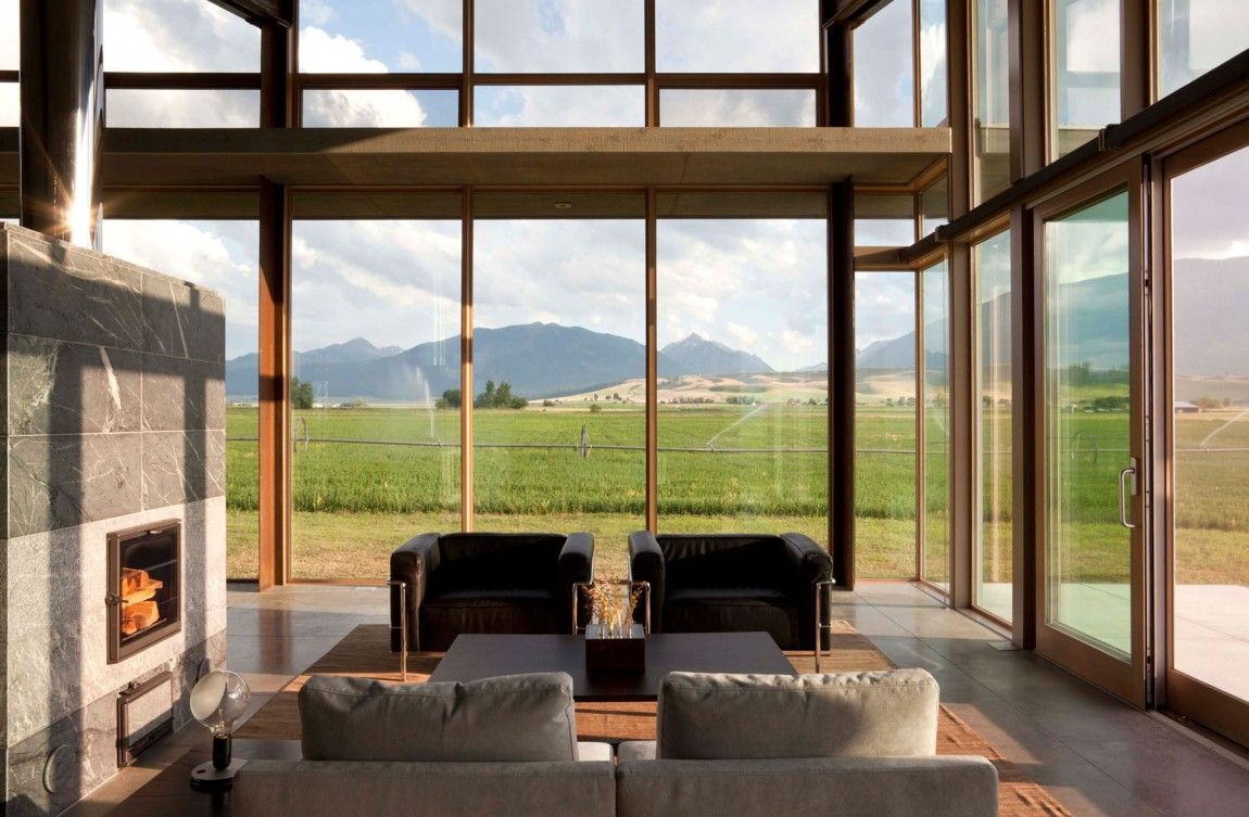 Olson Kundig Architects designed the Glass Farmhouse