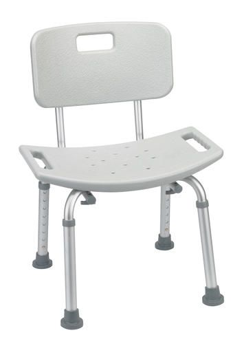 drive medical gray bathroom safety shower tub bench chair with back