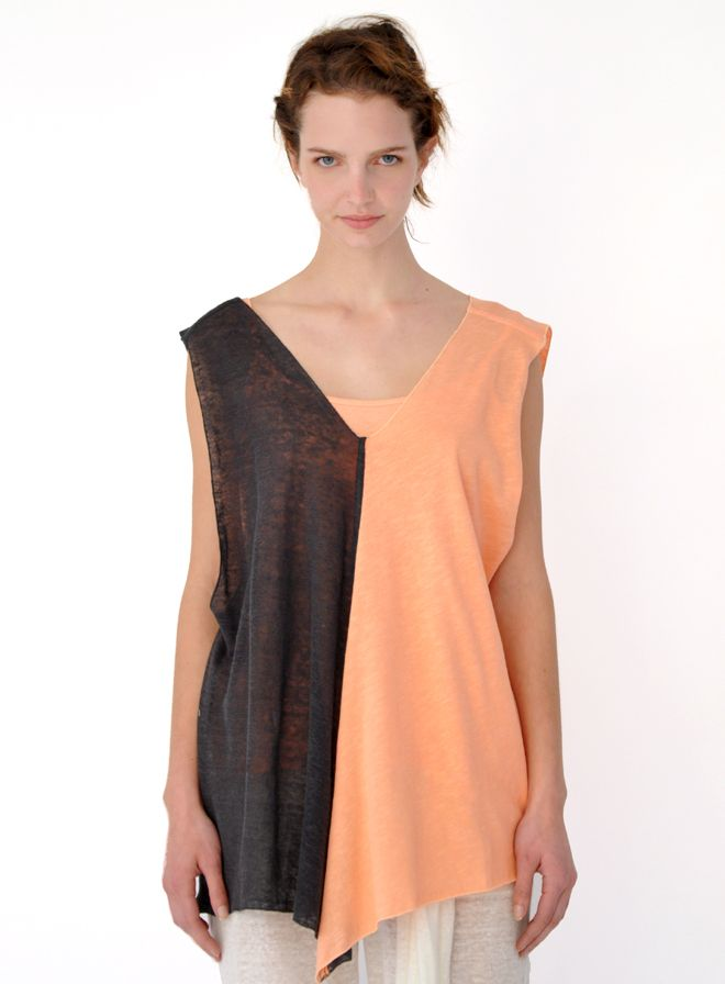 Greek clothing store, Heel: Double blouse, two-coloured