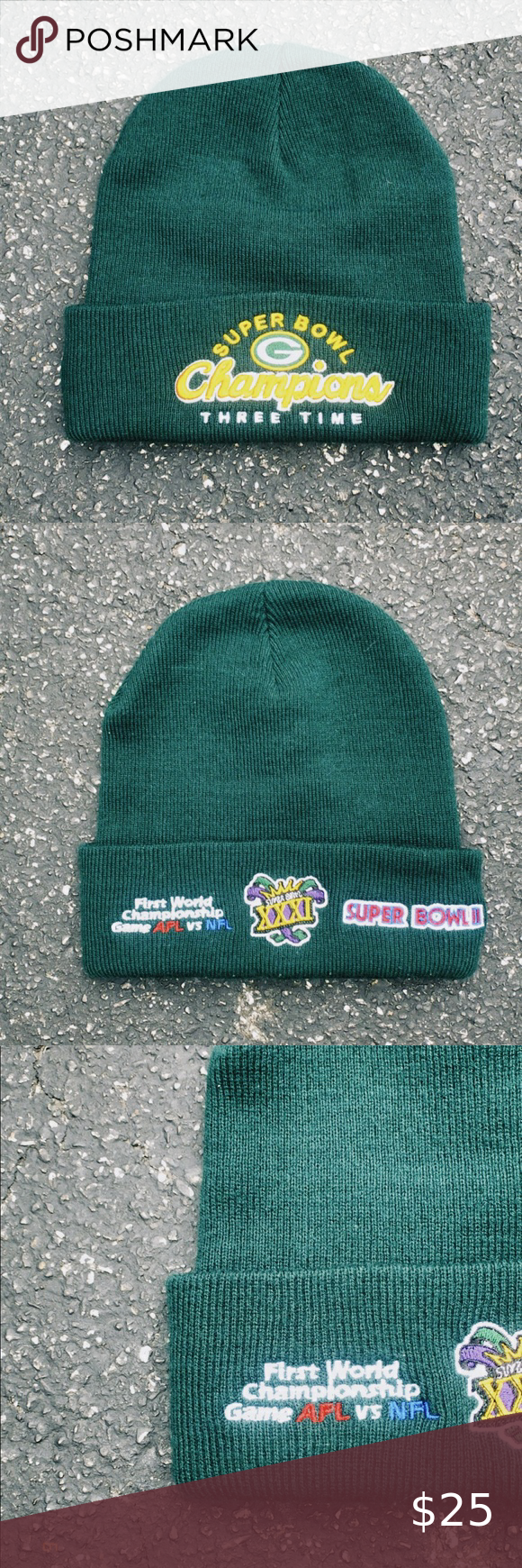 Vintage 90s Embroidered Green Bay Packers Beanie In 2020 Embroidered Nfl Accessories Beanie
