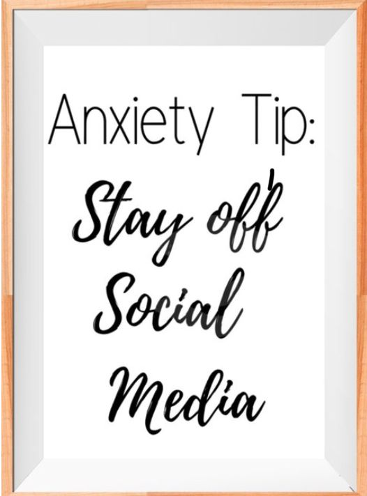 Anxiety Tip: Stay off social Media INSTANT DOWNLOAD Poster | Etsy