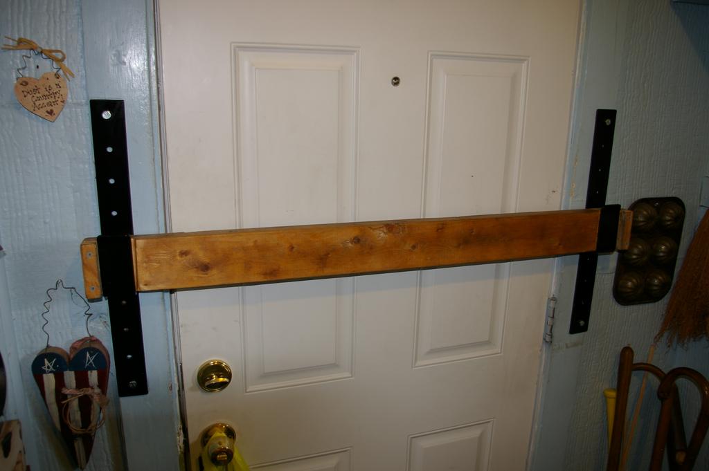 Drop Bar Door Brackets | Front door, Installation, Doors