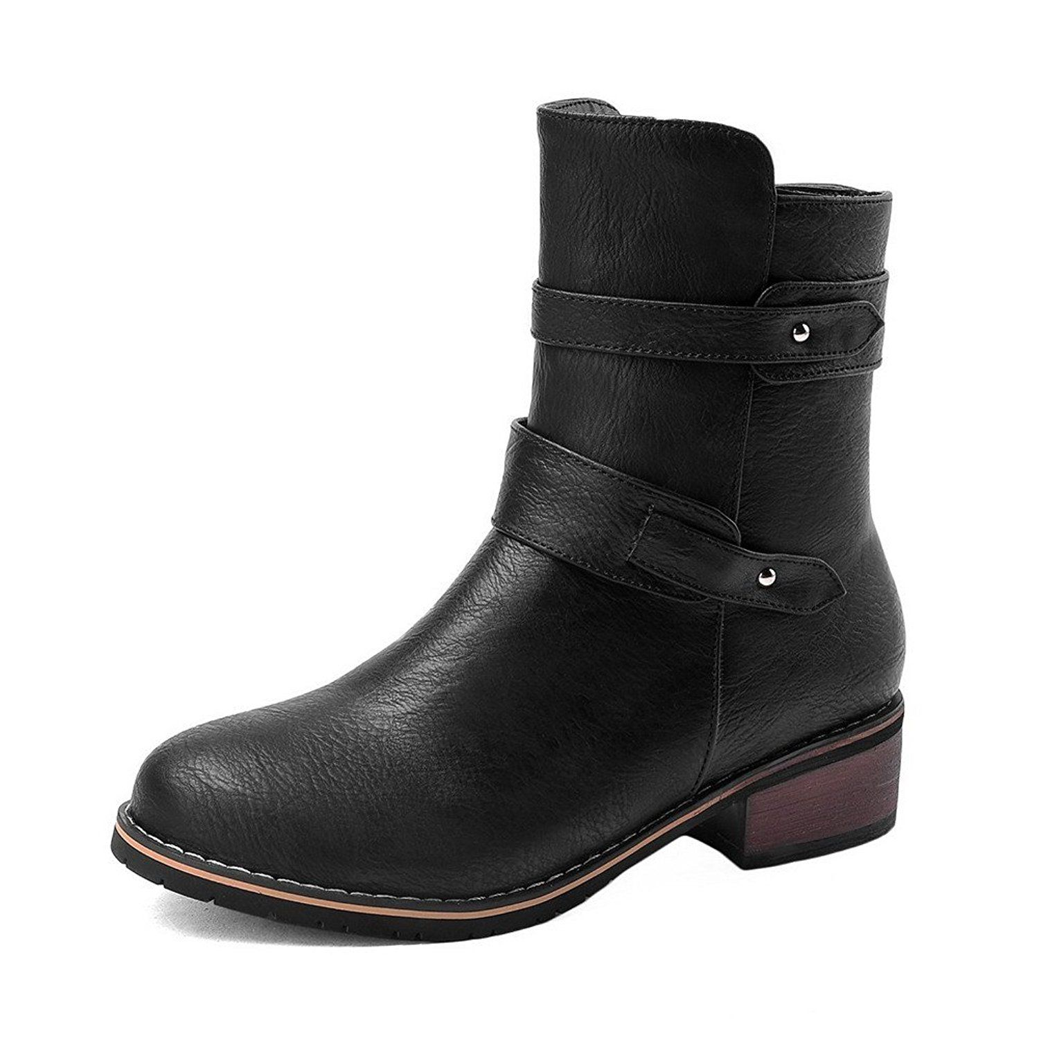 Shoes For Women Low Heel Round Toe Closed Toe Boots
