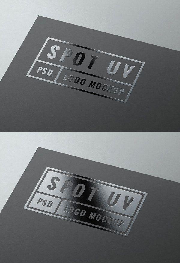 Spot Uv Logo Mockup Logo Mockup Uv Logo Magazine Web Design