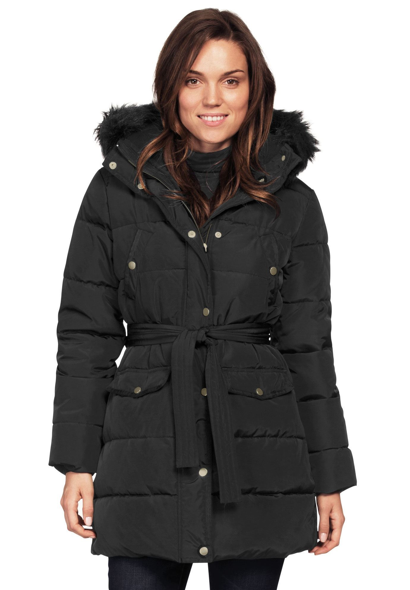 3fb83f26a29 Belted Puffer Coat by ellos - Women s Plus Size Clothing  plussizecoatsblack