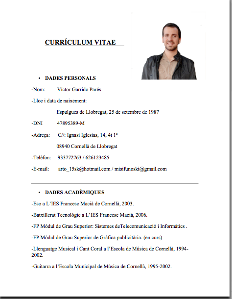 Simple En Word Curriculum Vitae Simple Curriculum Y Simple