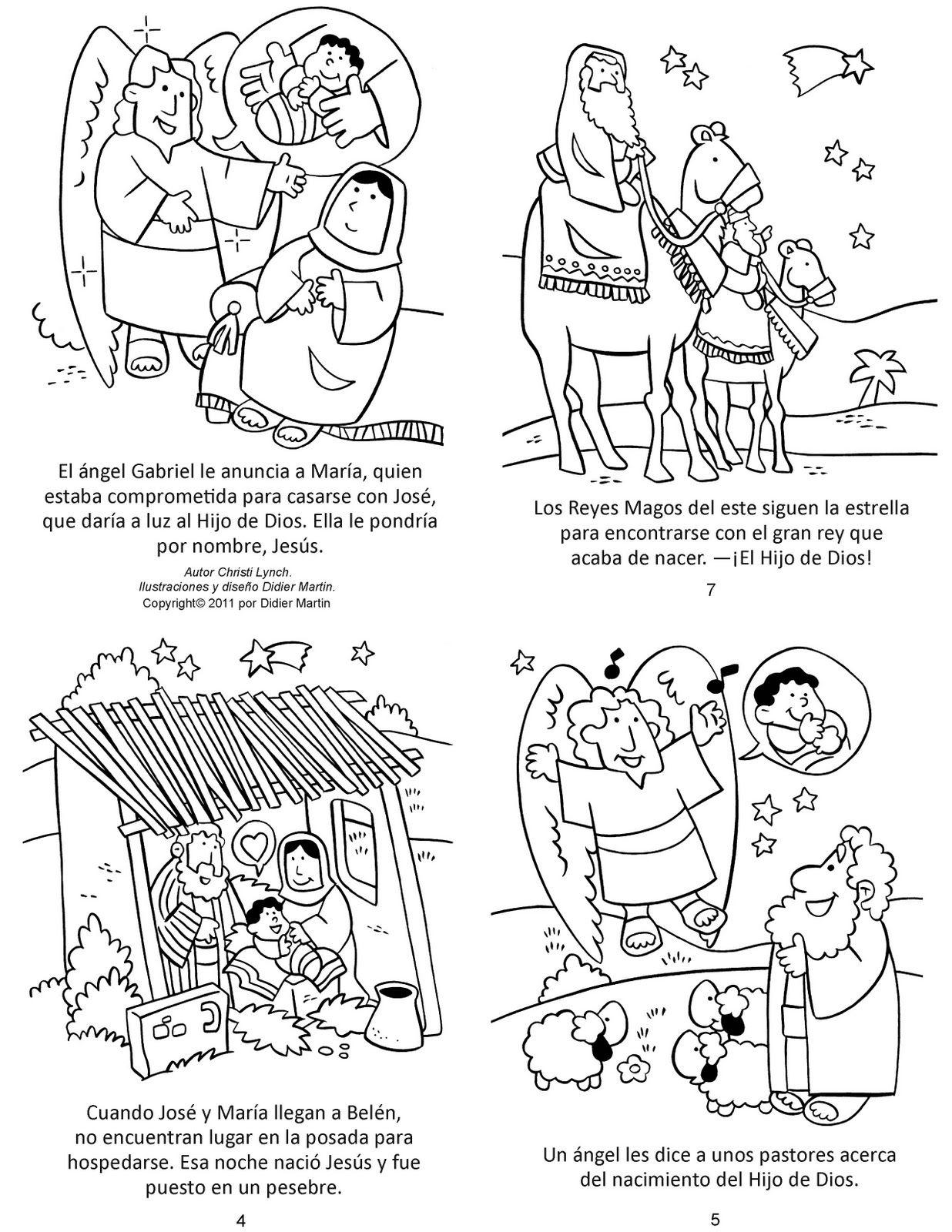 Secuencias Del Nacimiento De Jesus Dibujos Biblicos Jesus Para