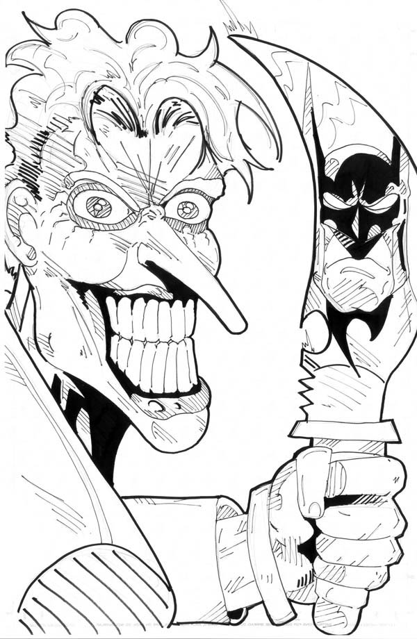 Scary Joker with Knife Coloring Page - NetArt | Adult ...