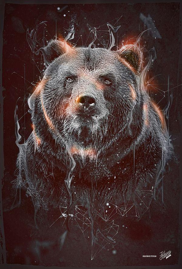 DARK BEAR on Behance in 2019   Bear tattoos, Grizzly bear ...