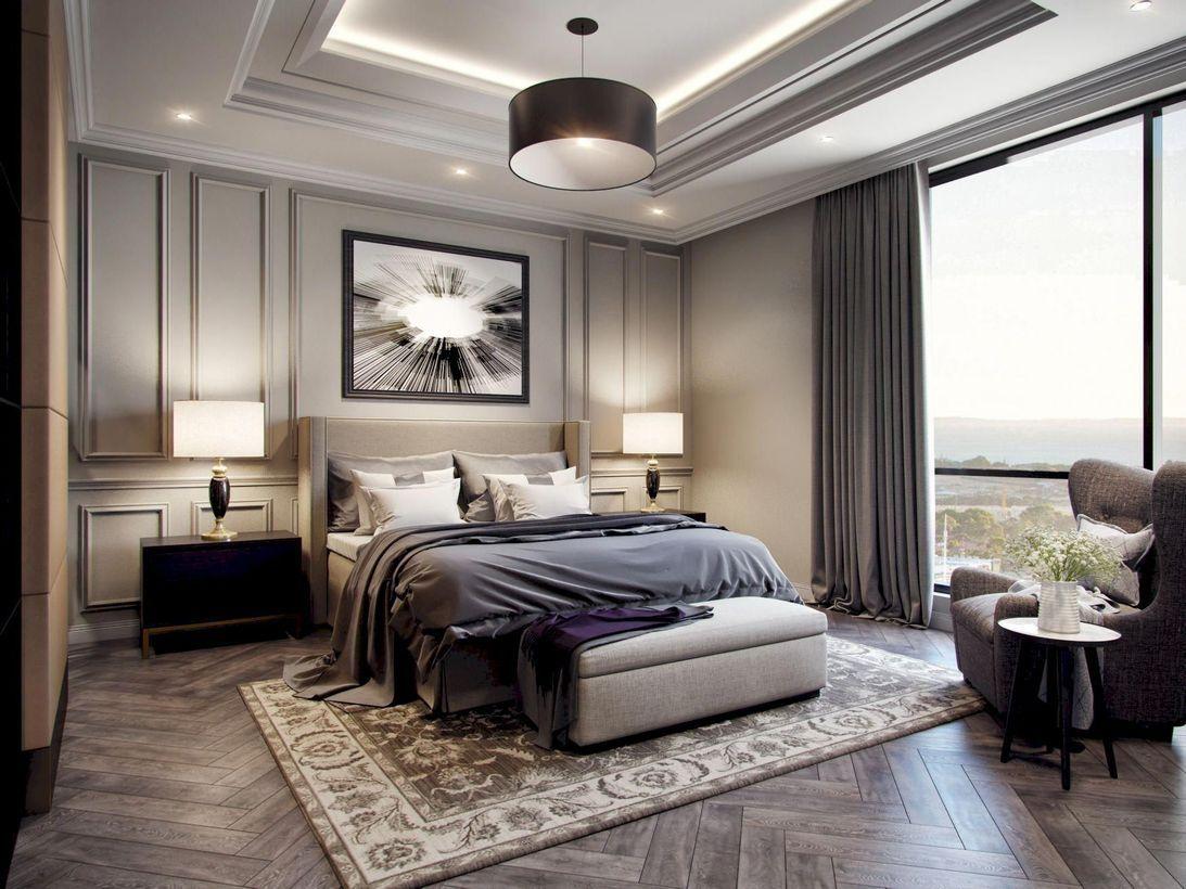 42 Majestic Classic Modern Bedroom Design Ideas Ide Kamar Tidur Desain Interior Kamar Tidur Mewah Luxury bedroom design desain