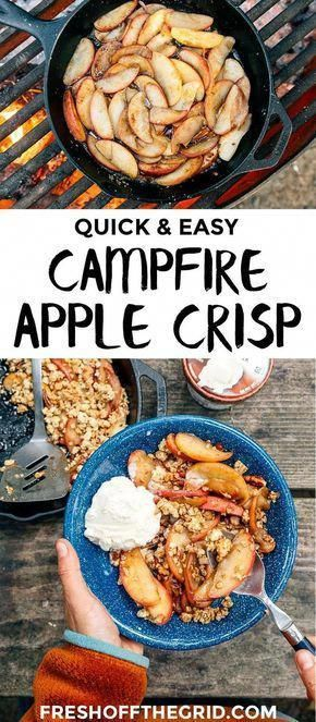 Photo of Quick & Easy Campfire Apple Crisp