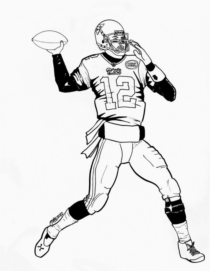 Patriots Coloring Pages Football Coloring Pages Sports Coloring Pages New England Patriots Players
