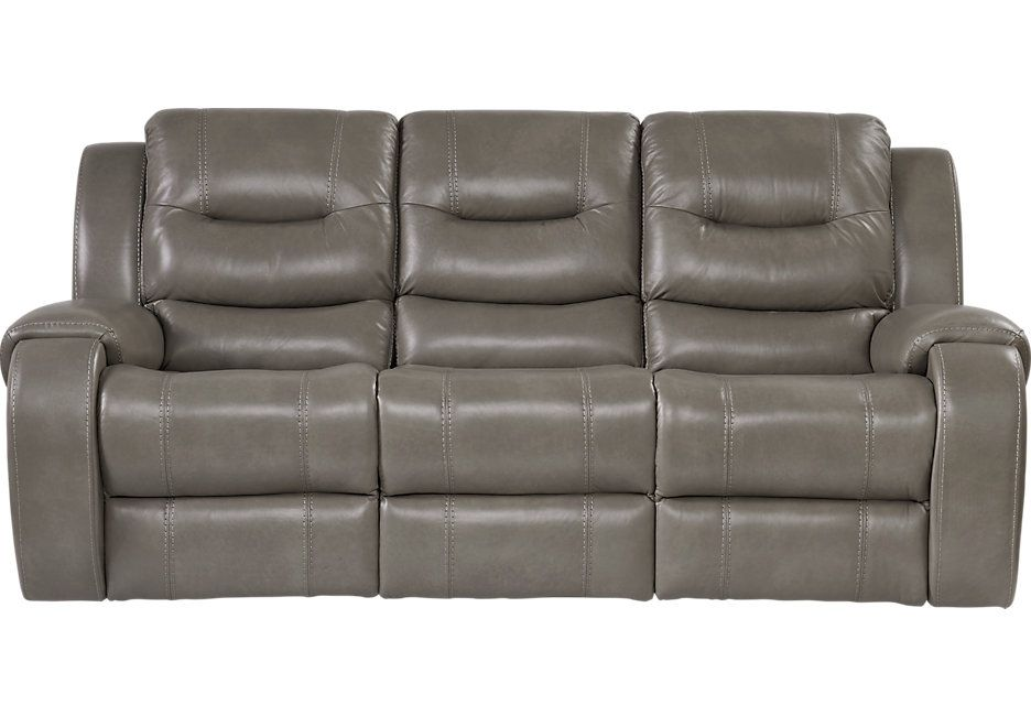 Stupendous Baycliffe Smoke Reclining Sofa Furniture Leather Gmtry Best Dining Table And Chair Ideas Images Gmtryco