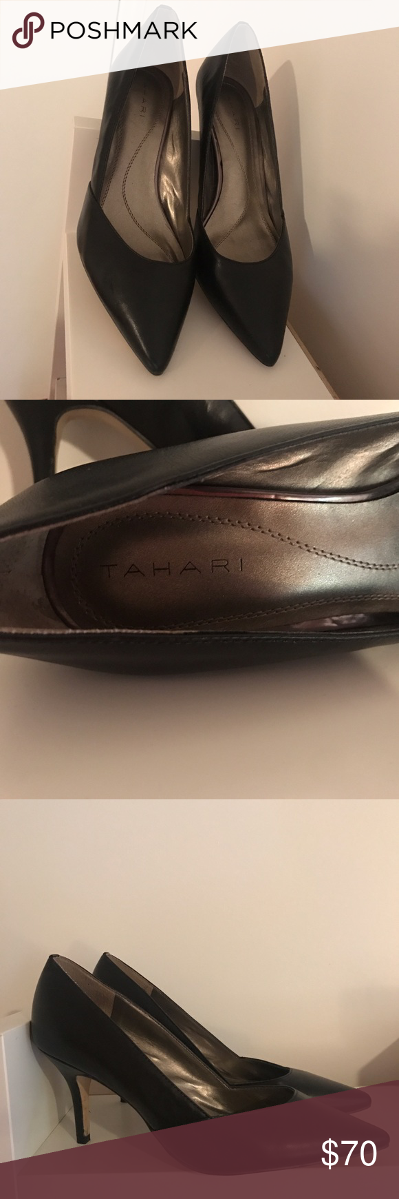 Tahari black shoes like new !! Size 9