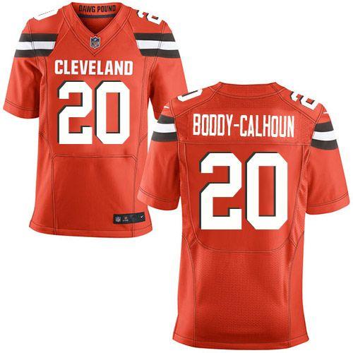 first rate 569d3 b343a Men's Nike Cleveland Browns #20 Briean Boddy-Calhoun Elite ...