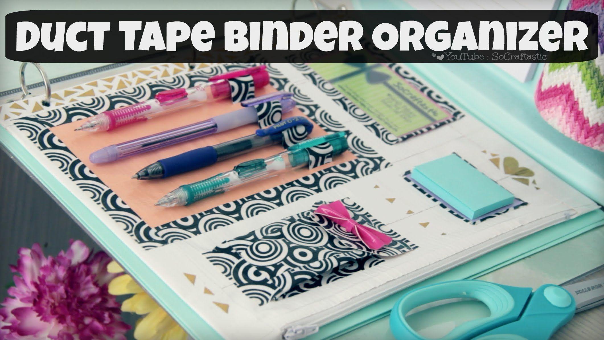 DIY Binder Organizer // Duct Tape Zipper Pouch & Pen