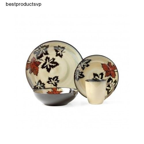 Dinnerware Set 16-piece Dishes Ceramic Hand Painted Serving Sets ...