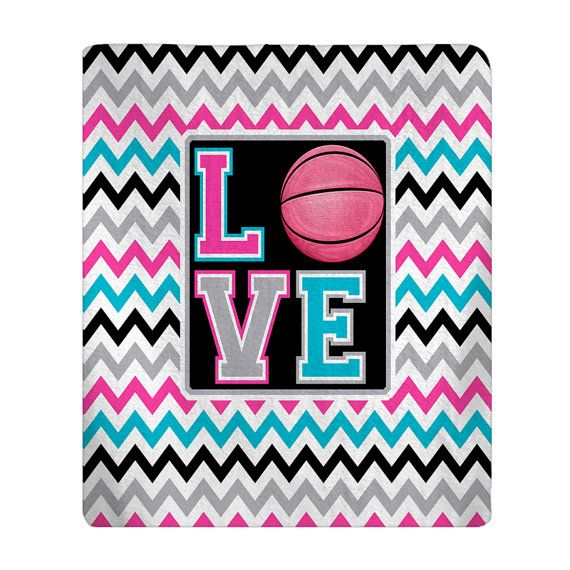 Personalized Love Basketball Plush Fleece Blanket  by redbeauty