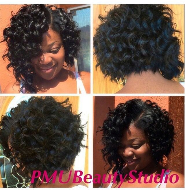 Curly Bob Natural Hair Weaves Natural Hair Styles Crochet Hair