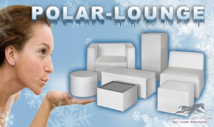 """Wie alle Produkte von Zebra und Art Design sind auch die Möbel der """"Polar-Lounge""""-Serie von Grund auf für den professionellen Einsatz in Vermietung und Event entwickelt."""