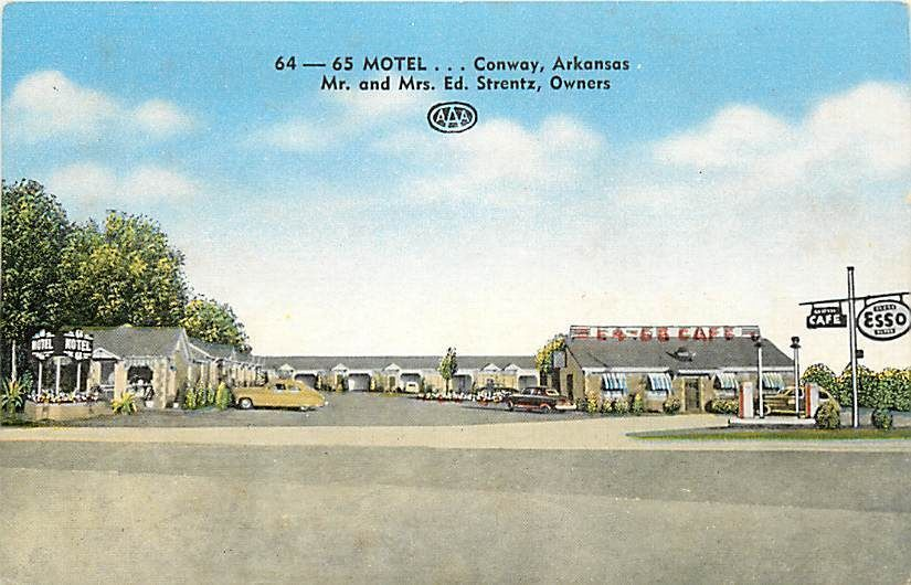 Ar conway 64 65 motel cafe town view q61045 ebay