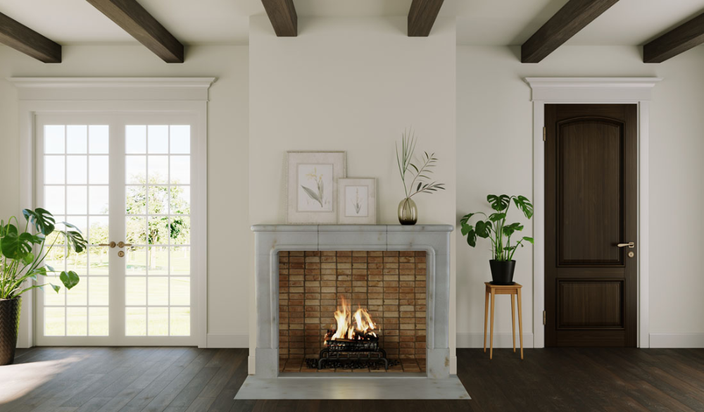 Fp 114 Leuven Transitional Fireplace Custom Fireplaces Com Modern Fireplace Transitional Fireplaces Fireplace Design