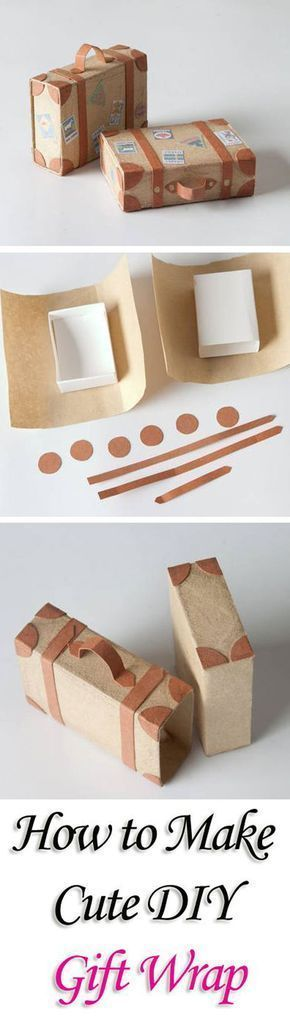 Photo of DIY mini gift packaging in the form of a suitcase. Great idea for vouchers …