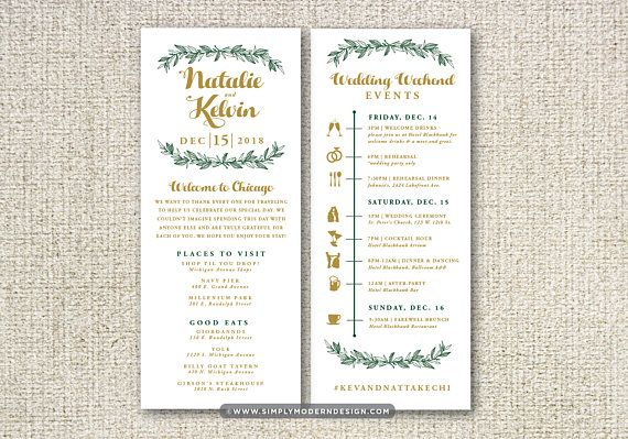 Winter Wedding Itinerary Timeline Welcome Bag Guest Etsy Wedding Itinerary Destination Wedding Welcome Bag Wedding Welcome Bags