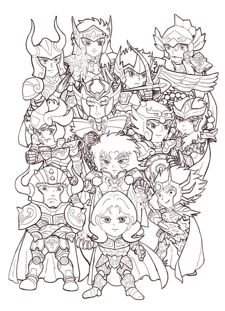 Saint Seiya Free Coloring Pages Gold Saints   Coloring For Kids ...