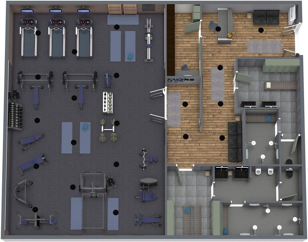Gym Plan in 2020 Gym design, Gym decor, Gym interior