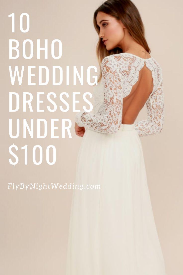 Boho Wedding Dresses Under $18 April 18 Edition   Fly By Night ...