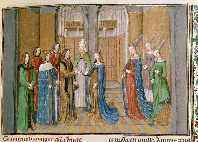 Caption: Marriage of Bohemond I, Prince of Antioch, and Constance, daughter of King Philip I of France, circa 1106