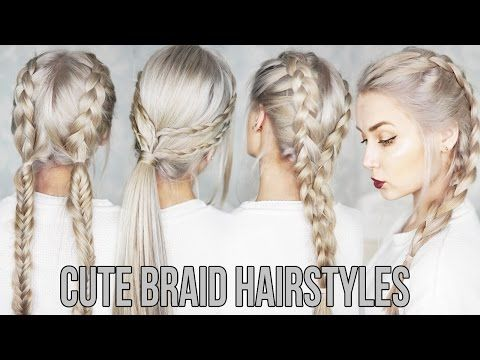 Easy Braided Hairstyles In 10 Minutes Perfect For Work Or Back To School Braided Hairstyles For Short Braided Hairstyles Easy Easy Braids Braided Hairstyles