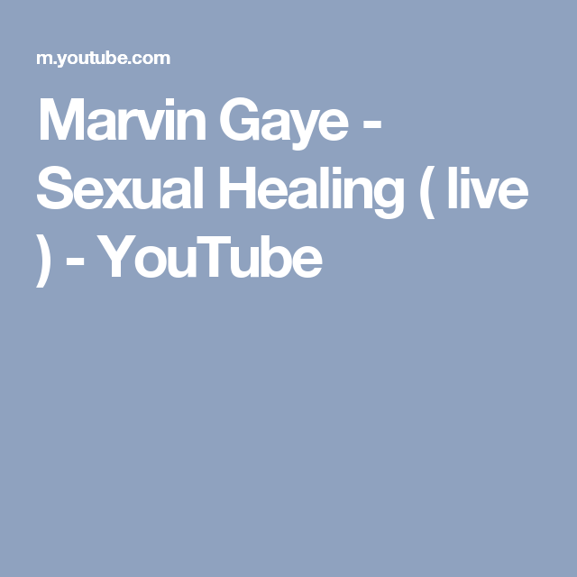 Marvin gaye sexual healing youtube video