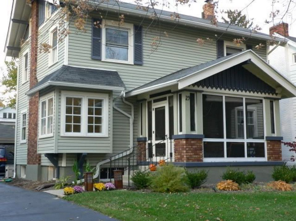 Pin By Kristl On American Four Square Enclosed Front Porches