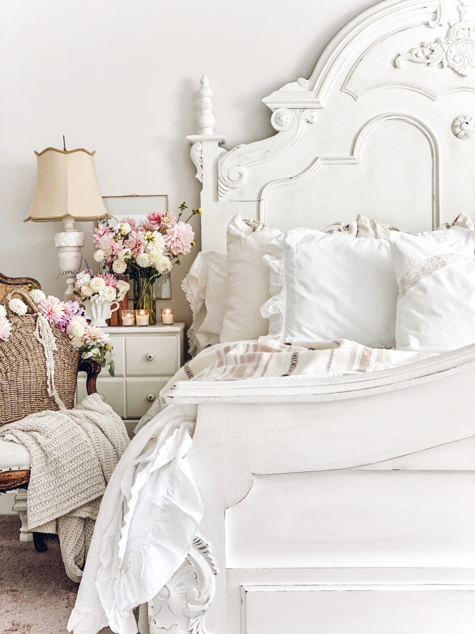 French Vintage Friday French Vintage Bedroom Lecultivateur Vintage French Bedroom French Style Bedroom Bedroom Vintage Vintage elegant bedroom designs