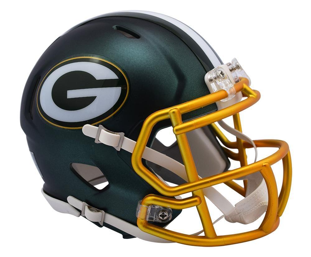 Green Bay Packers Helmet Riddell Replica Mini Speed Style Blaze Alternate Special Order Football Helmets Mini Football Helmet Green Bay Packers Helmet
